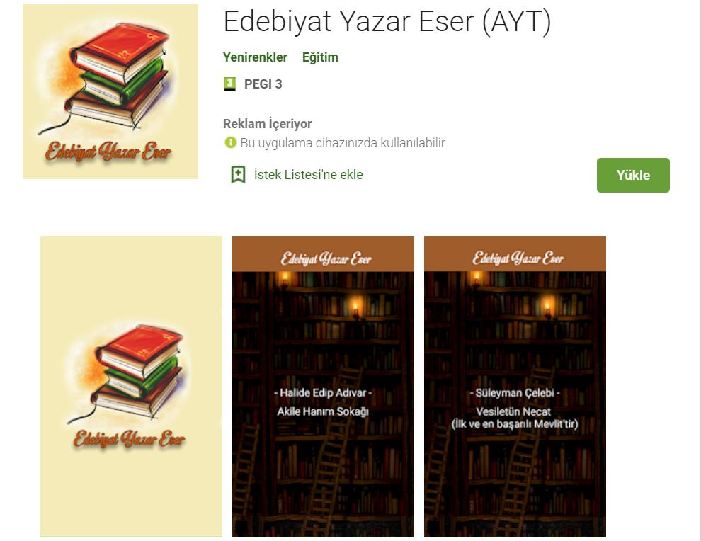 Edebiyat Yazar Eser (AYT)